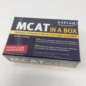 MCAT In A Box Kaplan 700 Science Flashcards New